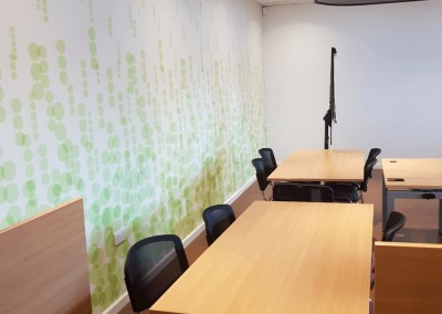 Interior Commercial Paining and Decorating Contractors in Cardiff & Bristol - our recent work - Office space & wallpapering